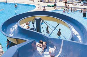 Water slide for children