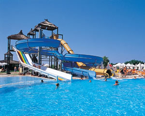 Childrens waterslide and aquapark